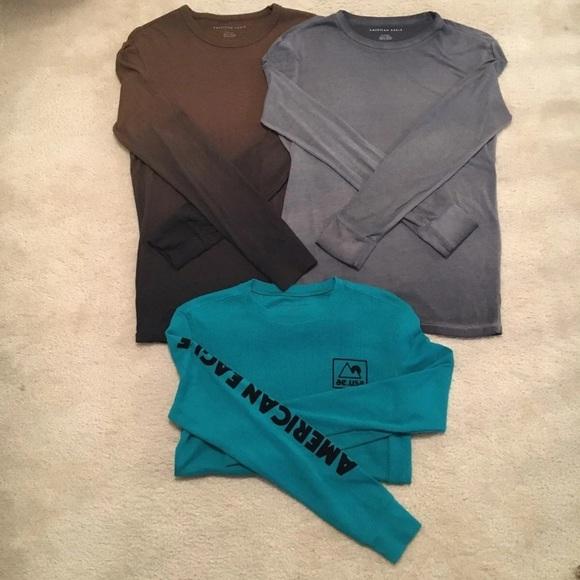 American Eagle LS shirts (3) Sz XS